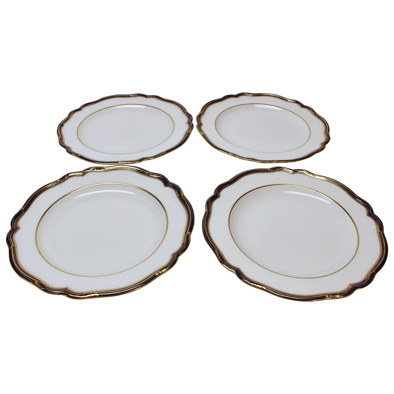Set of Four English Copeland Dinner Plates