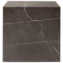 Plinth, Cubic, Grey Marble