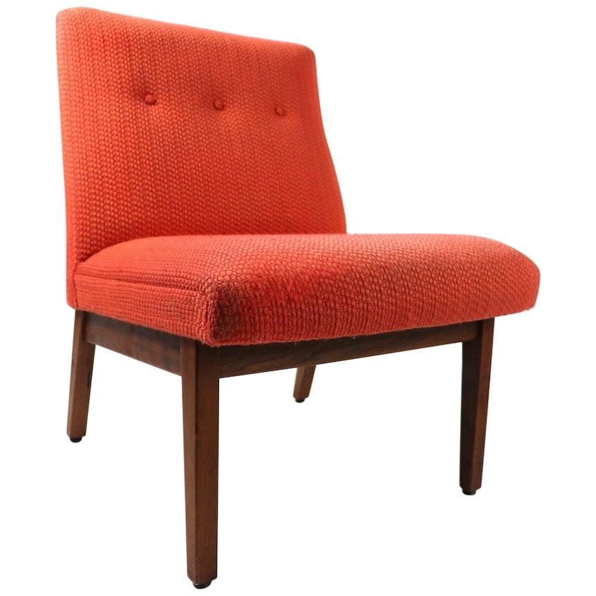 Armless Mid Century  Chair by Gunlocke after Risom