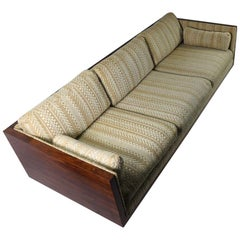 Rosewood Box Sofa by Carlton after Milo Baughman Pair Available