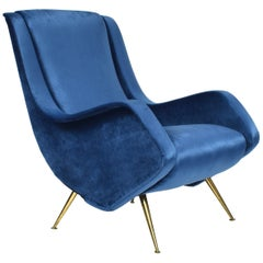 Aldo Morbelli for I.S.A. Bergamo Lounge Armchair, Italy, circa 1950