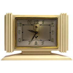 Original 1930s French Art Deco Bakelite Clock By Blangy