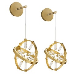 Pair of Globo Wall Lights
