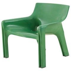 Vico Magistretti Green Molded Plastic Vicario Chair
