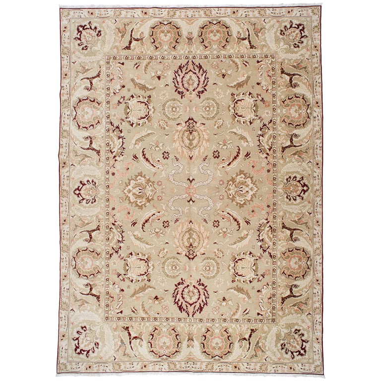 Floral Agra Style Egyptian Rug For Sale At 1stdibs