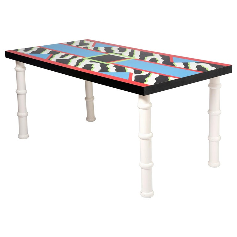 """Table """"Madras"""" by Nathalie du Pasquier for Memphis, Italy, circa 1986 For Sale"""
