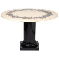 """Piero Fornasetti """"Corona di Fiori"""" Table, Italy, circa 1960"""