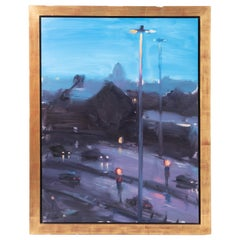 """Oil on Board Painting """"Twilight"""" by Liam Spencer, England 1997"""