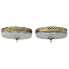 Pair of Neoclassical French Flush Mount