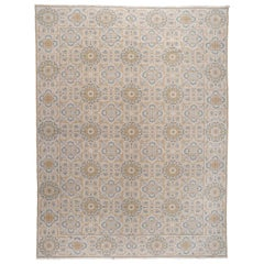 Blue and Gold Pattern Rug