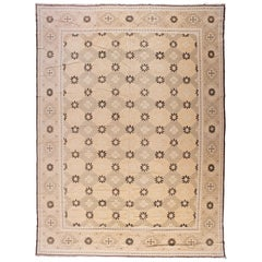 Brown and Gold Blossoms Rug