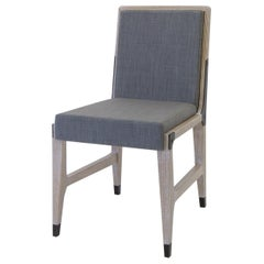 Constantine Armless Dining Chair with Upholstered Back and Seat, by Mark Zeff