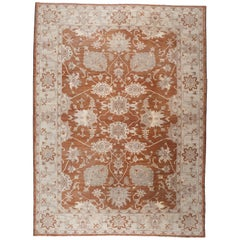Red and Beige Floral Rug