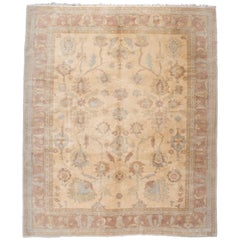 Gold and Red Floral Turkish Rug
