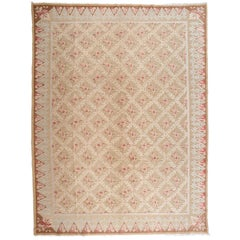 Axminster Pink Roses Area Rug