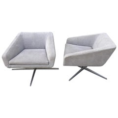 "Pair of Lievore Altherr Molina ""Cubica"" Swivel Chairs by Verzelloni, Italy"