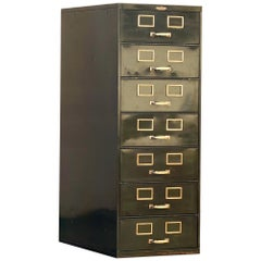 1930s Multi Drawer Card Filing Cabinet by Remington Rand