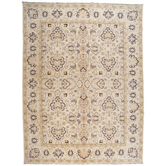 Yellow and Gold Floral Rug