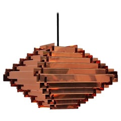 Copper Pendant Attributed to Hans-Agne Jakobsson Swedish Design from the 1960s