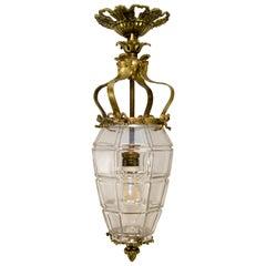 """Louis XIV """"Versailles"""" Style Bronze Hanging Lantern Hall Lamp"""