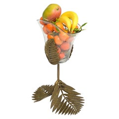 Brass Palm Leaves Vase
