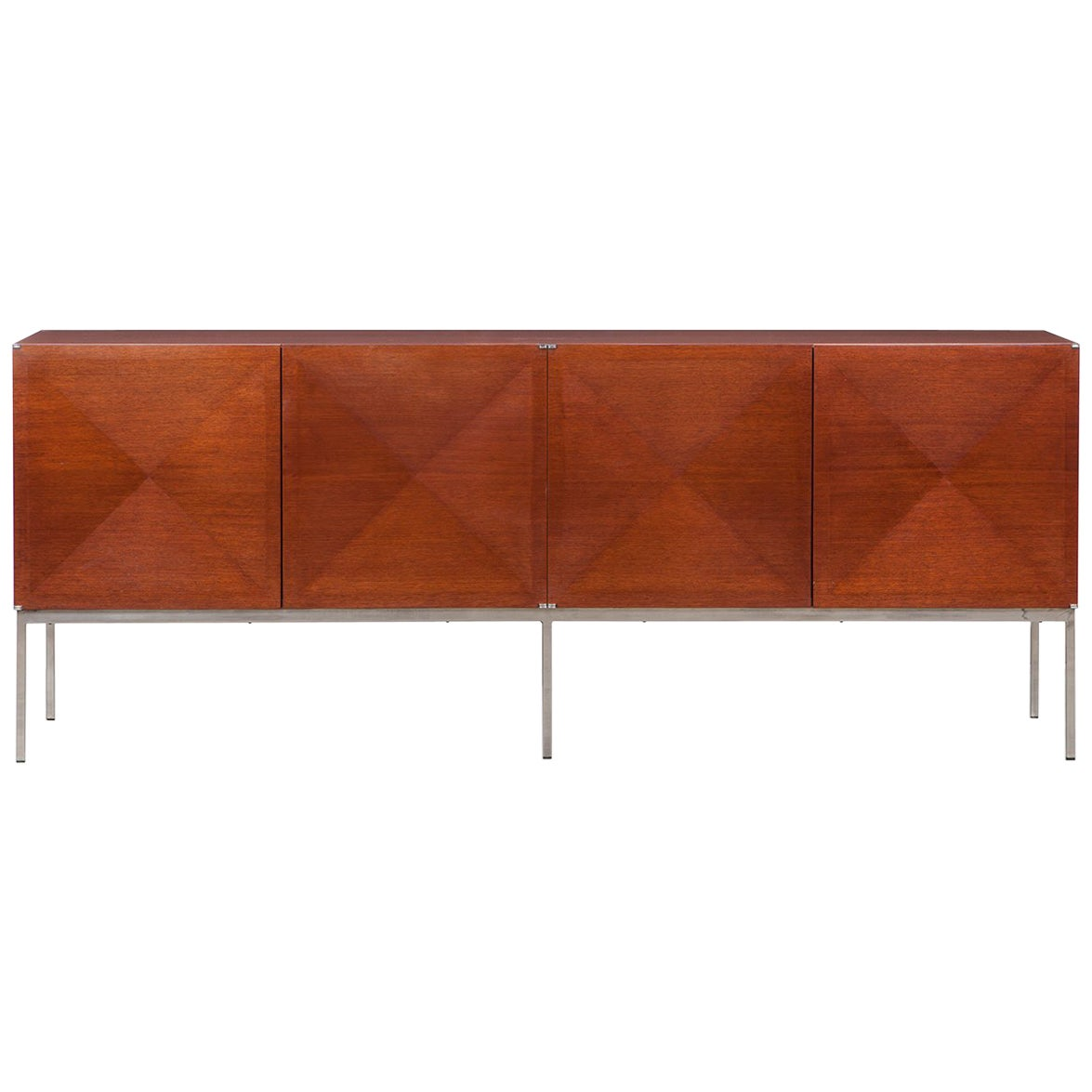 1960s Brown Mahogany Sideboard by Antoine Philippon/Jacqueline Lecoq 'f'