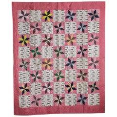 Antique Multicolored Patchwork Quilt