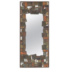 Decorative Metal Patchwork Mirror of the 1960s