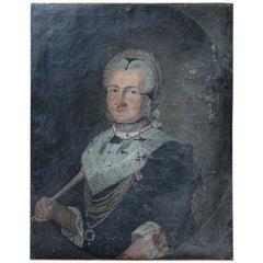 18th Century German School Oil on Canvas Portrait of Anna Margaretha Kesel