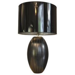 Loffredo Ferdinando Table Lamp in Ceramic and Steel 70 Years