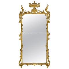 French Classical Gilt Urn Mirror