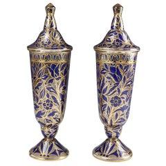 Pair of Julius Muhlhaus & Co Haida Art Nouveau-Secessionist Vases