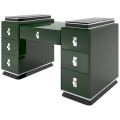 Modern Design Tower Desk in Jaguar Racing Green