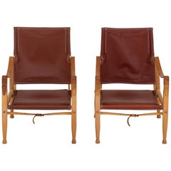 Set of Two Safari Chairs by Kaare Klint