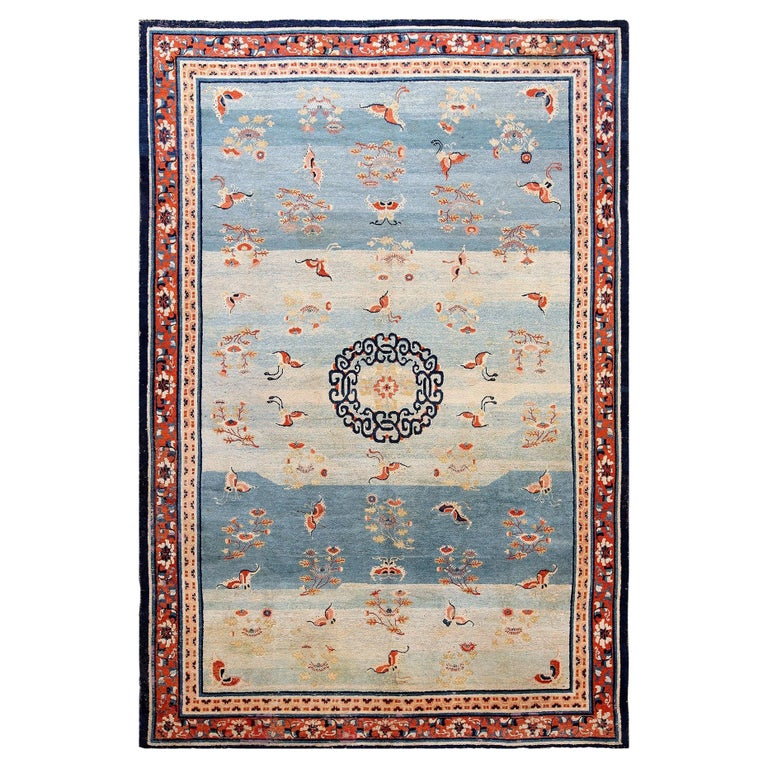 18th Century Kansu Carpet from China 1