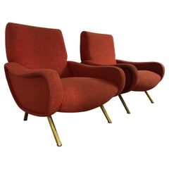 """Pair of """"Lady"""" Armchairs by Marco Zanuso for Arflex, Italy, 1950s"""