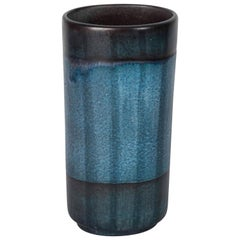 Danish Modernist Ceramic Vase in Blue and Green