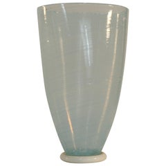 Dino Martens Vase for Aureliano Toso, Murano Glass, Light Blue and White, 1960s