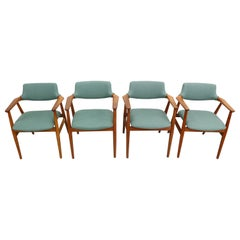Set of Four 1960s Svend Aage Eriksen, Teak Armchairs, Danish Modern