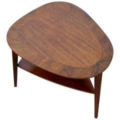 Holger Georg Jensen Three-Legged Walnut End Table by Kubus