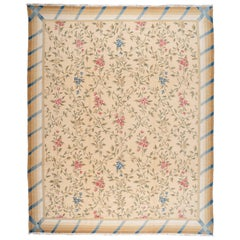 Bassarabian Floral Rug with Blue, Red and Gold