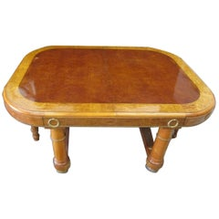 French Ormolu-Mounted Lacewood Dining Table