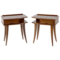 Midcentury Italian Florence Nightstand or Side Tables, 1950s