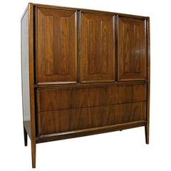 Mid-Century Modern Walnut Tall Chest Dresser