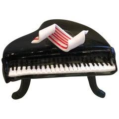Murano Glass Grand Piano with Pasta Glass Keys, circa 1950s