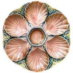 Majolica Oyster Plate Sarreguemines, circa 1890
