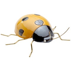 Handmade Ceramic Accessories Ladybug Yellow