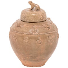 19th Century Chinese Wine Vessel with Shizi Lid