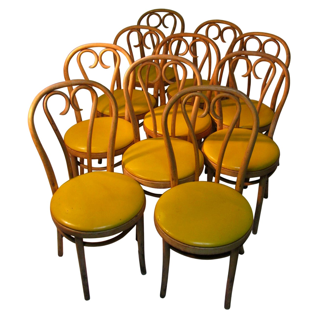 Pair of Thonet Bentwood Cafe Bistro Dining Chairs