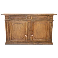 19th Century Italian Chestnut Wood Large Rustic Sideboard, Buffet or Credenza